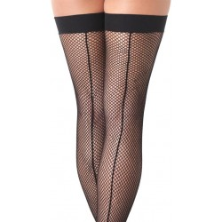 Black Fishnet Stockings With Seem