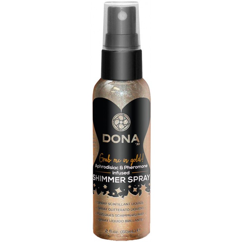 DONA Shimmer Spray Aphrodisiacs and Pheromone Grab Me In Gold