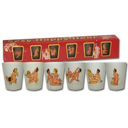 Sexy Happy Hour Shot Glasses Set Of 6