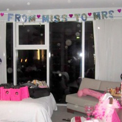 From Miss To Mrs Hen Night Banner