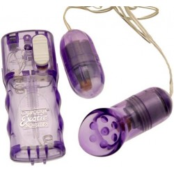 Double Play Vibrating Egg And Clitoral Stimulator