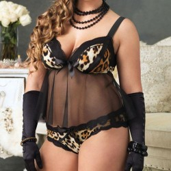 Leg Avenue Babydoll Padded Cups And Panty