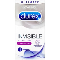 Durex Invisible Extra Lubricated 12 Pack